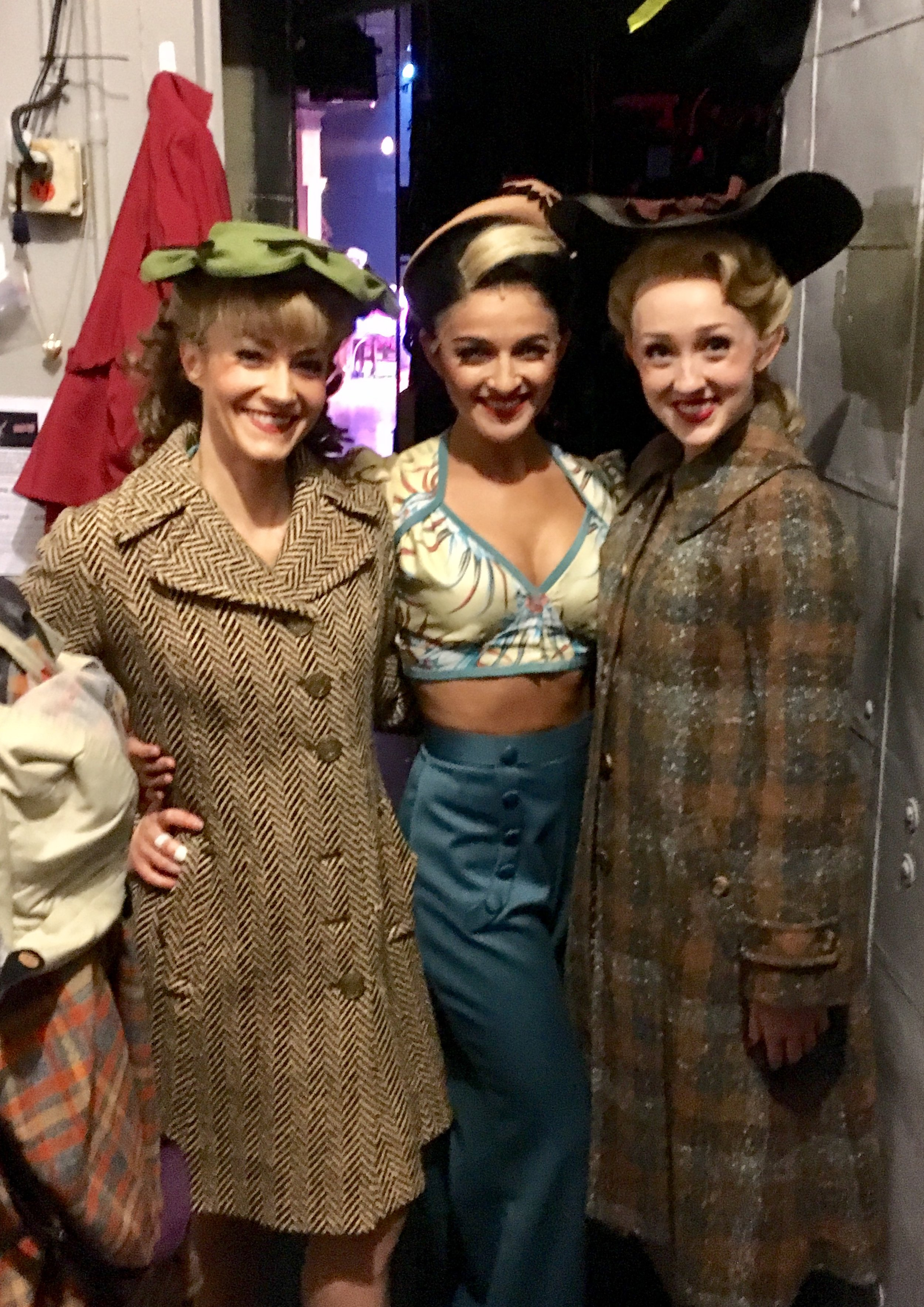 Carleigh Bettiol (center, backstage at  Bandstand )