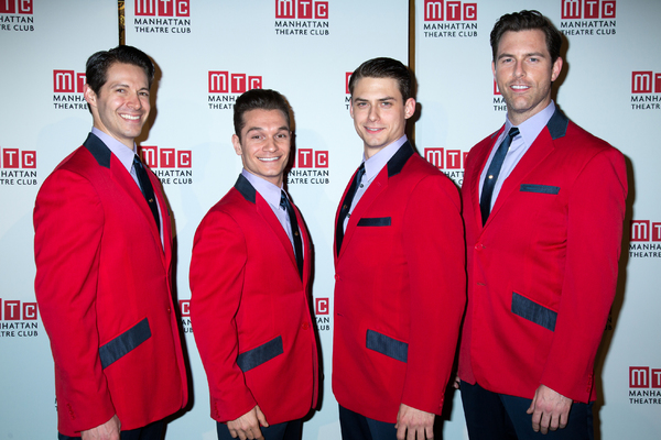 Stephen Cerf (left, with Christopher Messina, Rory Max Kaplan and Michael Lomenda) in  Jersey Boys