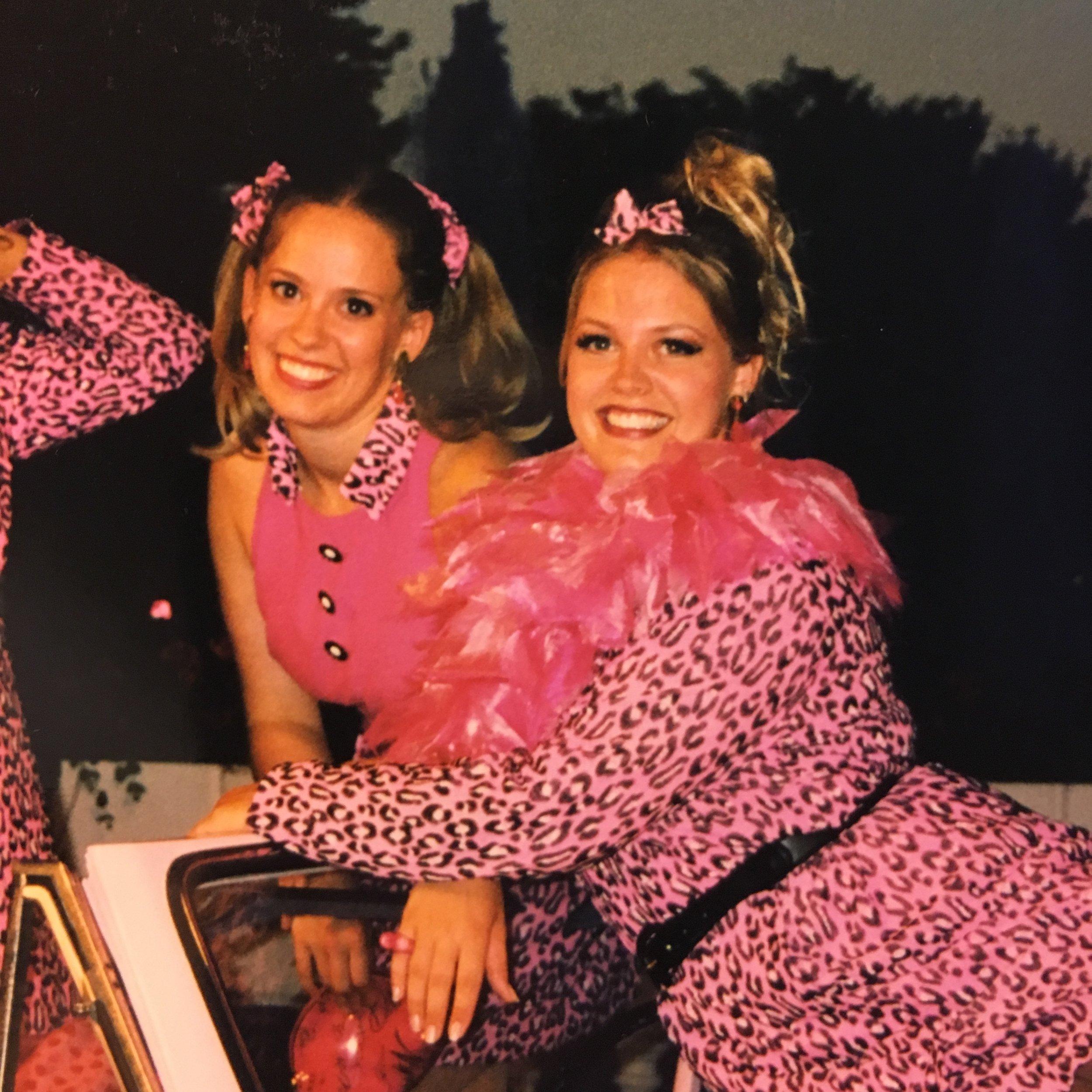 Rachel Hoffman working during college in the summer of 1998, with Elizabeth Stanley.