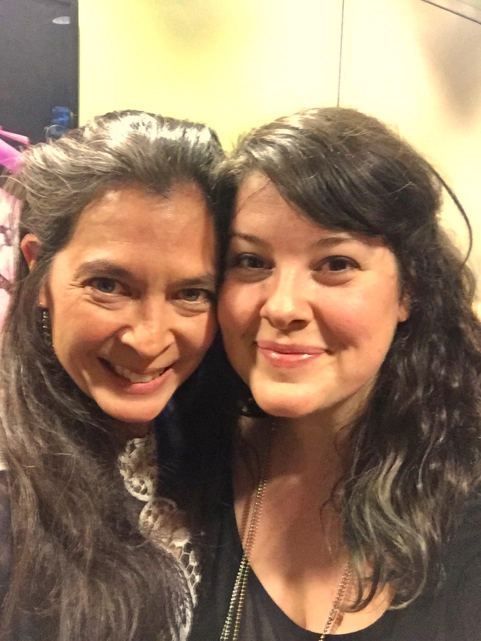 Lauren Elder (right, with HAIR director Diane Paulus)