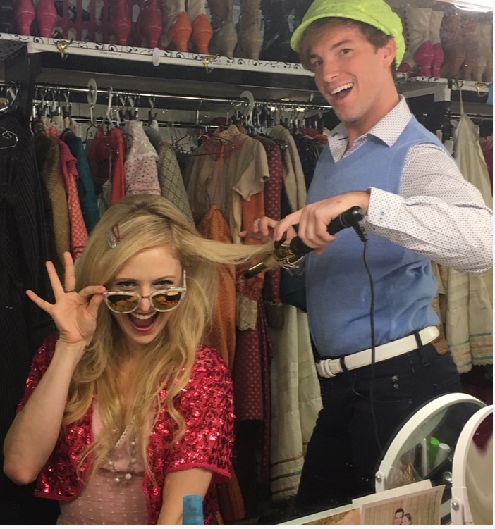 Justin Bowen (right, with Hayley Podschun at a  High School Musical themed put-in)
