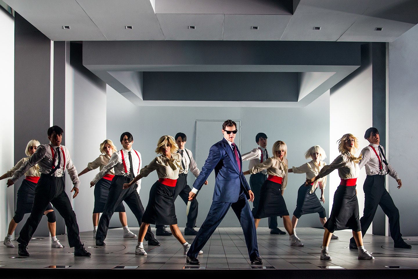 The talented cast of the short-lived Broadway musical  American Psycho .