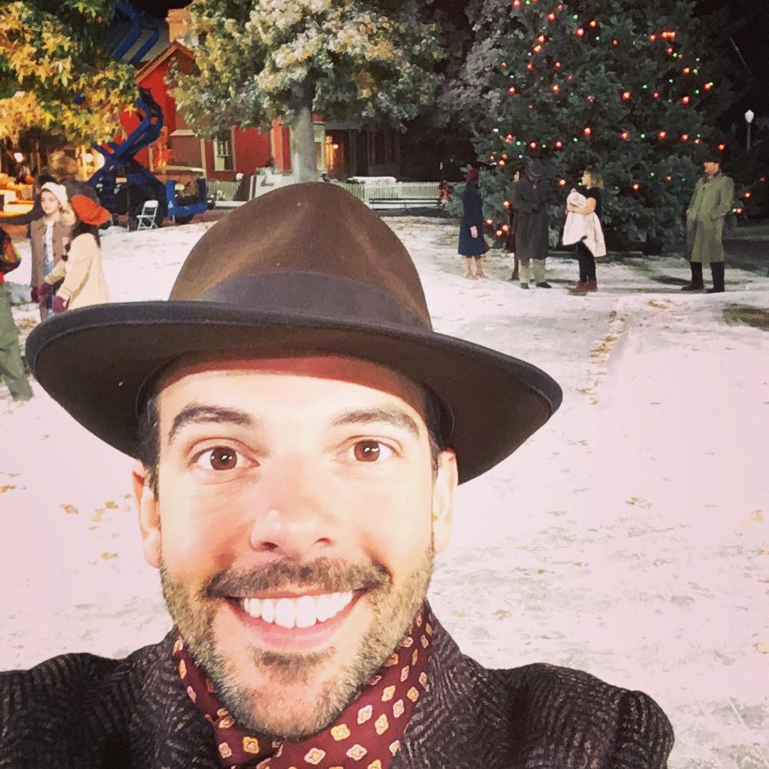 Jose Luaces on the set of  A Christmas Story Live