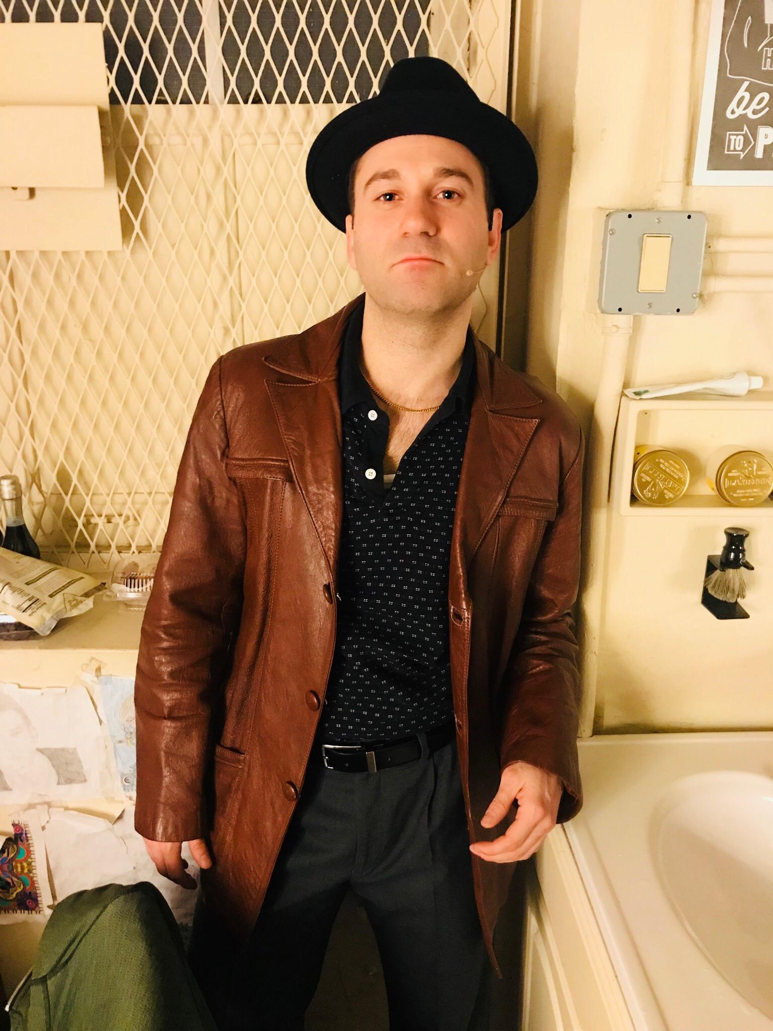 Michael Fatica backstage at   A Bronx Tale