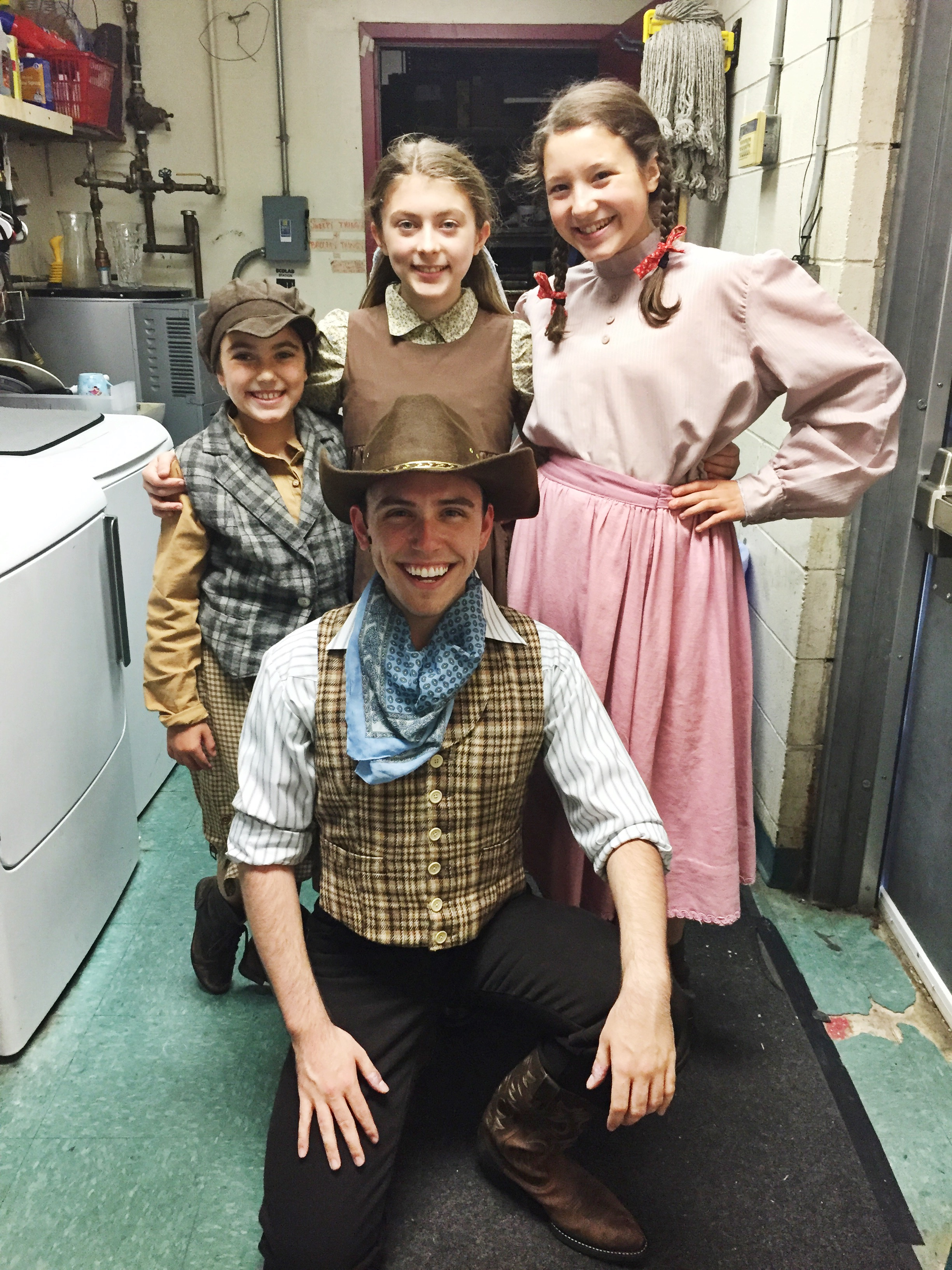 James Spencer Dean and the Westchester Broadway Theatre cast of  Annie Get Your Gun