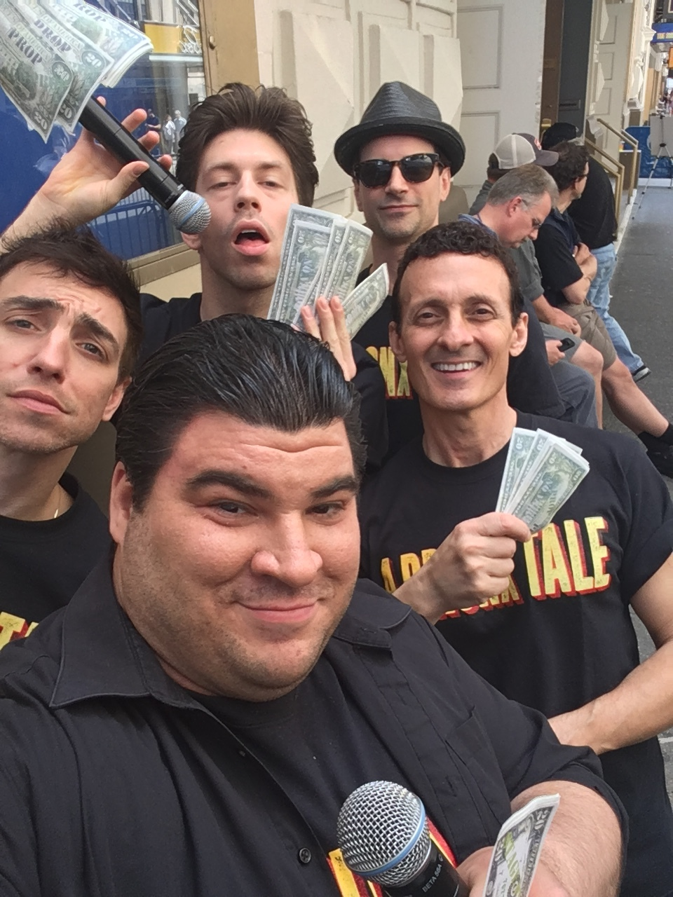 Michael Barra and the cast of  A Bronx Tale