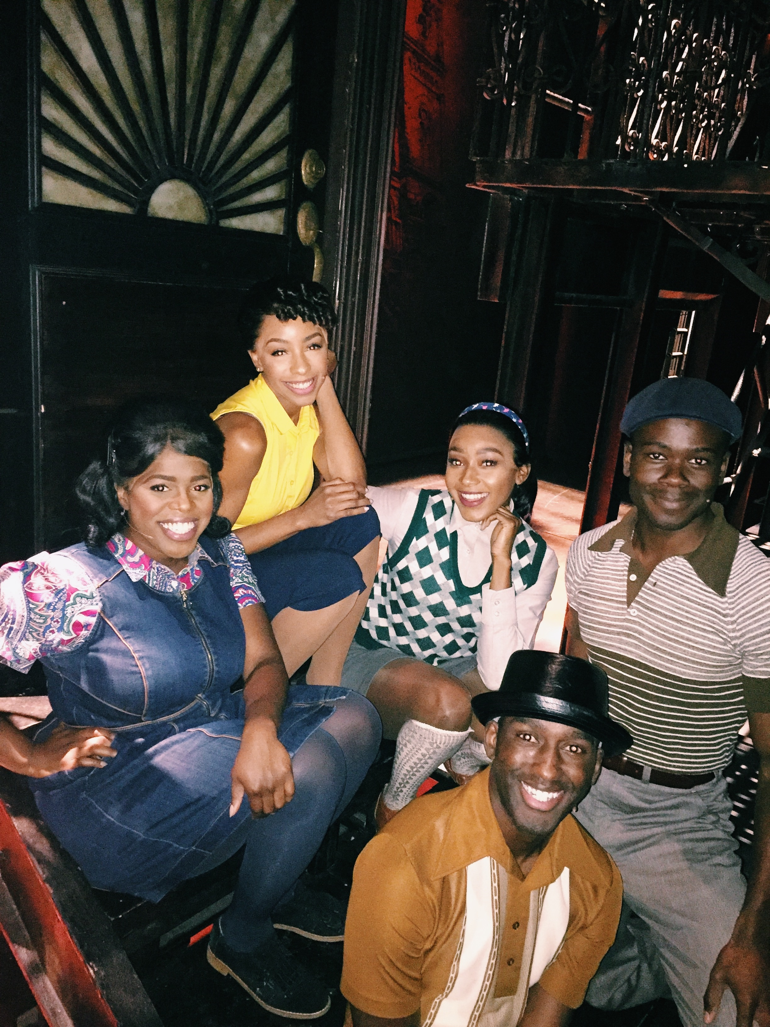 Brianna-Marie Bell and the cast of  A Bronx Tale