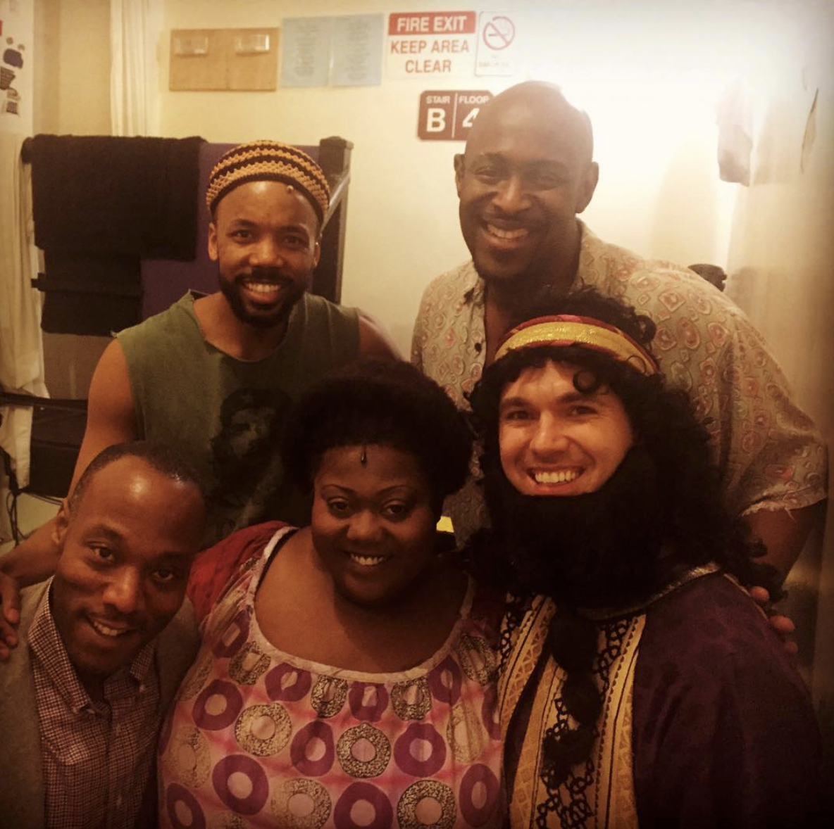 Tommar Wilson backstage at  the Book of Mormon  at the show's 2500th performance
