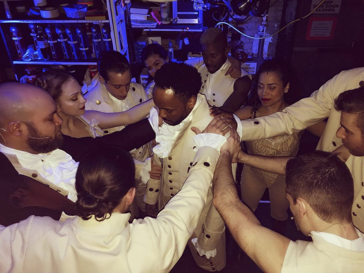 Tommar Wilson and the Chicago cast of  Hamilton