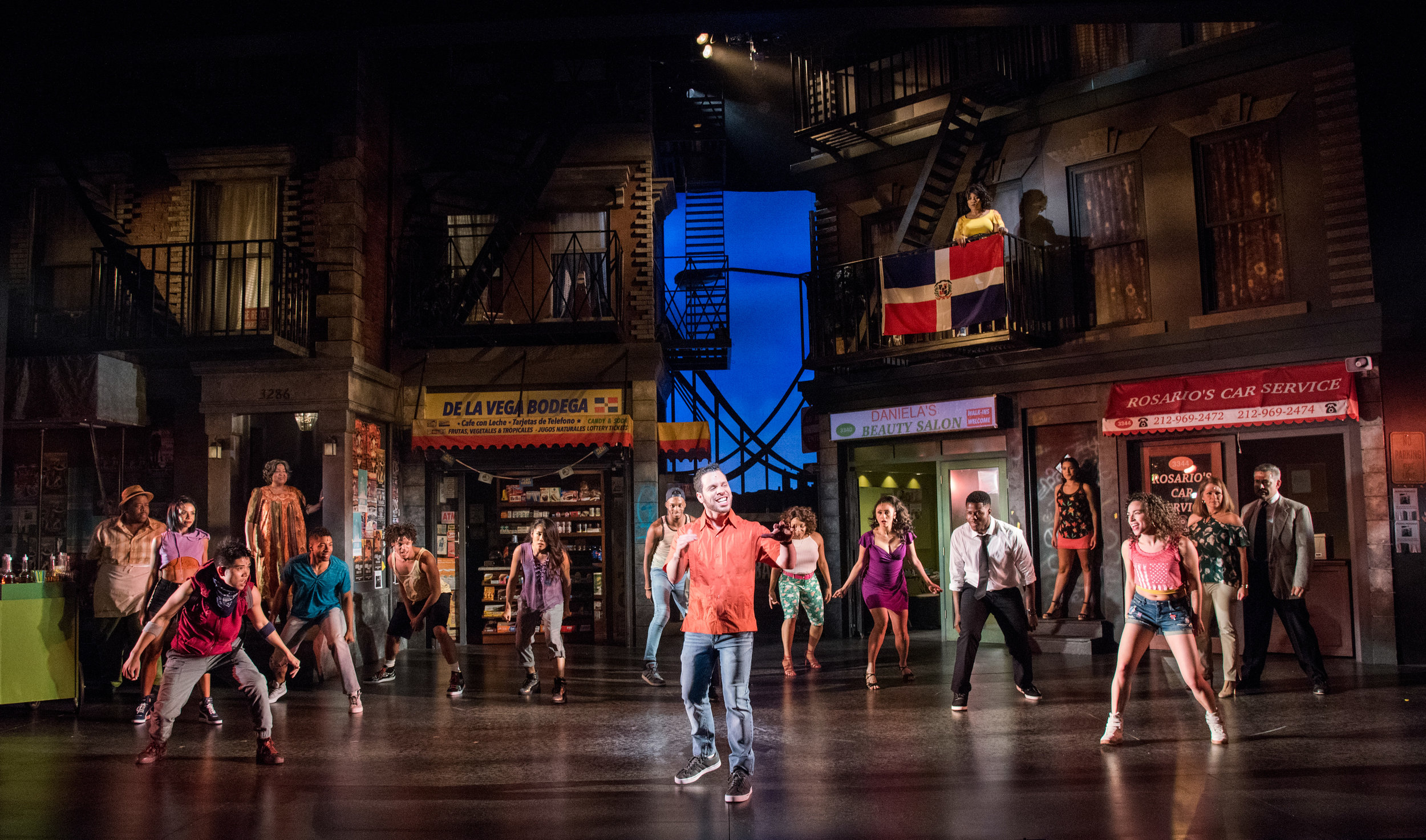 Eunice Bae in the ensemble of the Olney Theatre Center and Roundhouse Theatre's co-production of  In The Heights .