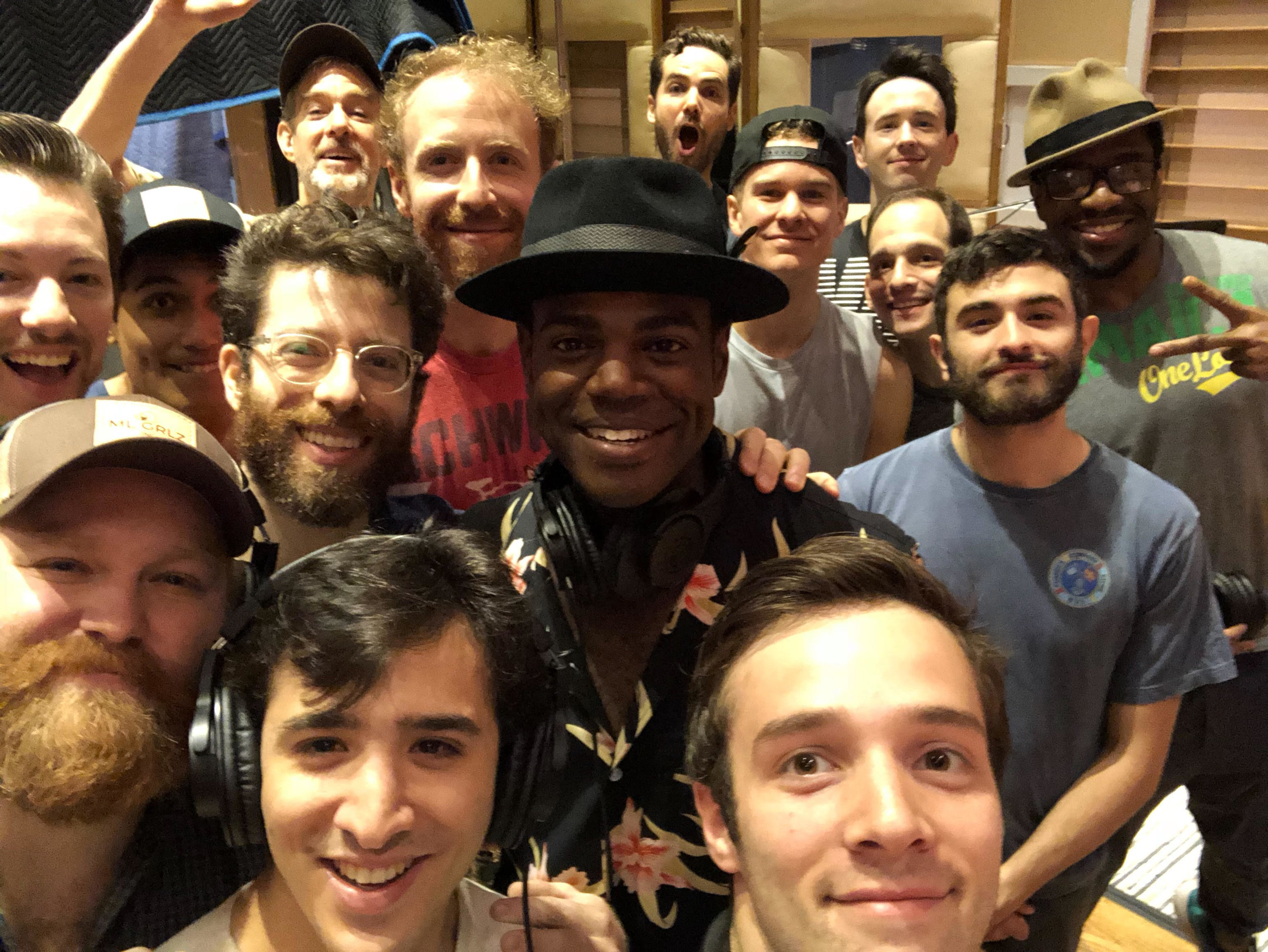 Ahmad Simmons and the cast of  Carousel