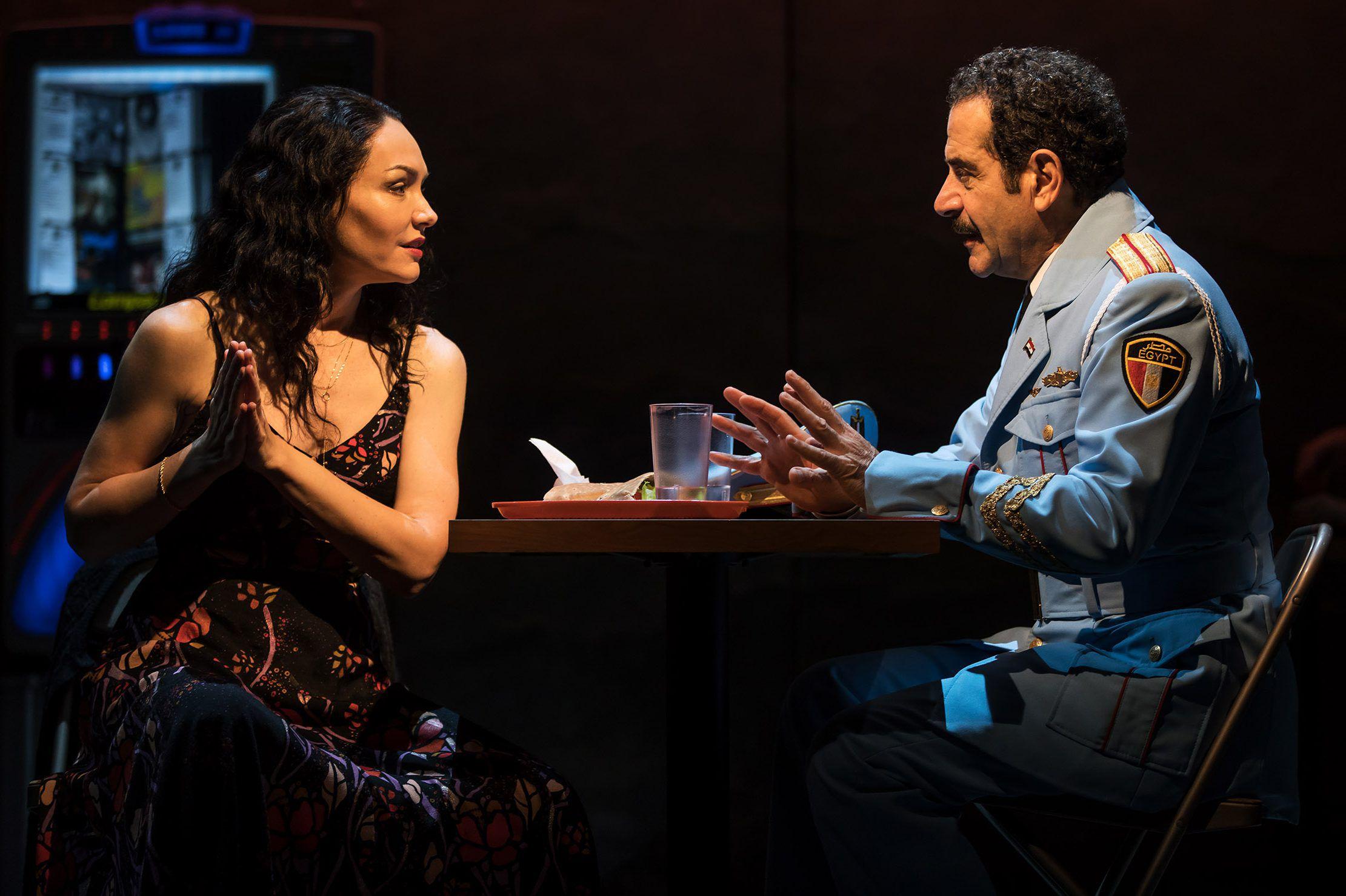 Katrina Lenk and Tony Shalhoub in  The Band's Visit