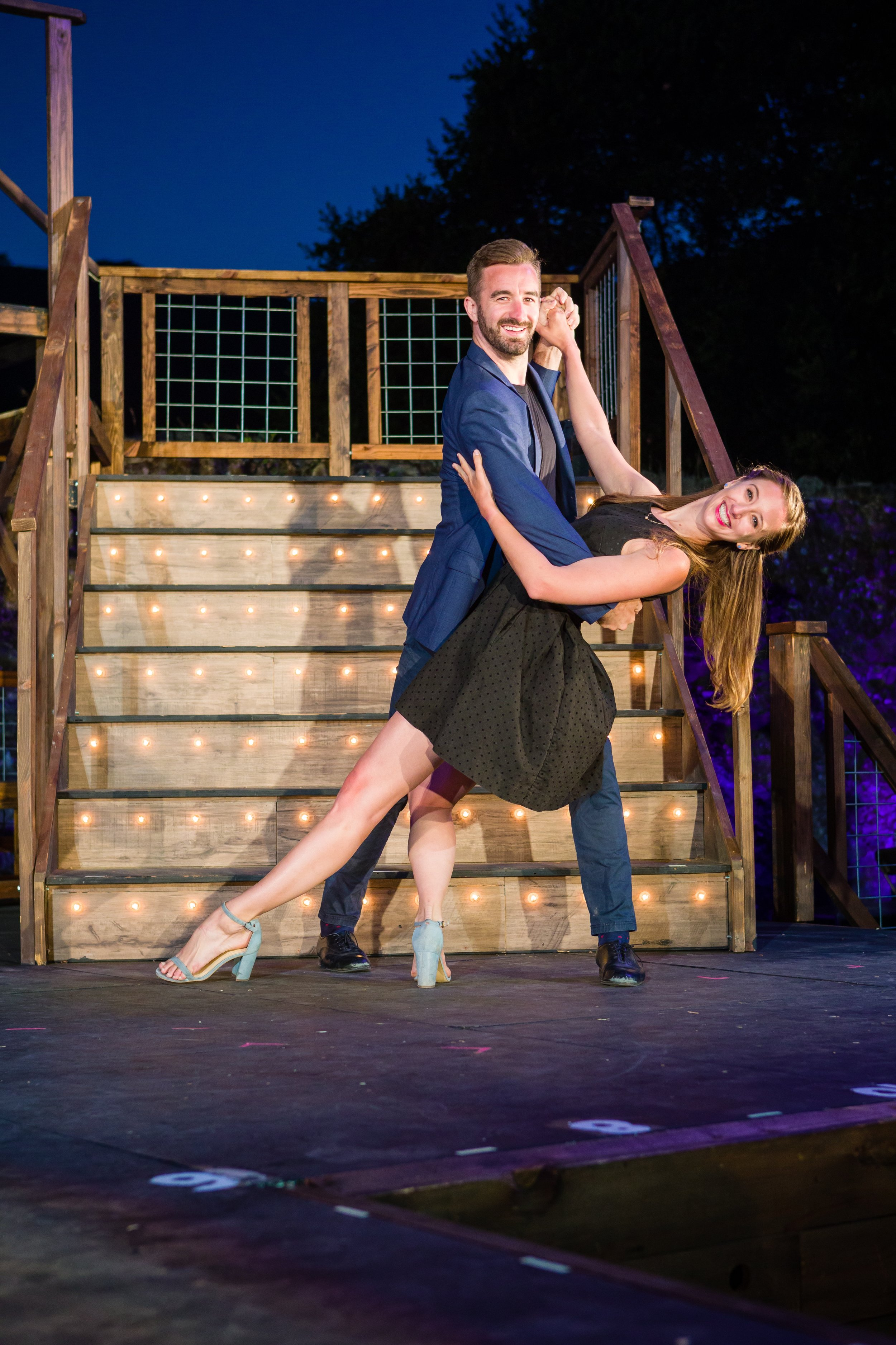 Cameron Hobbs and Julia Freyer at Transcendence Theatre Company