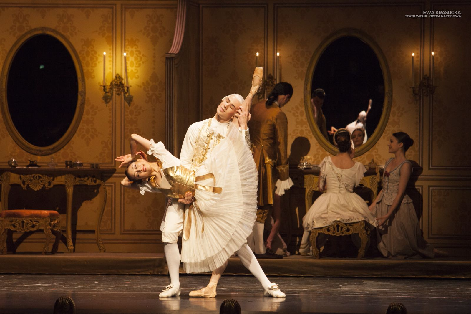 Robin Kent with the Polish National Ballet