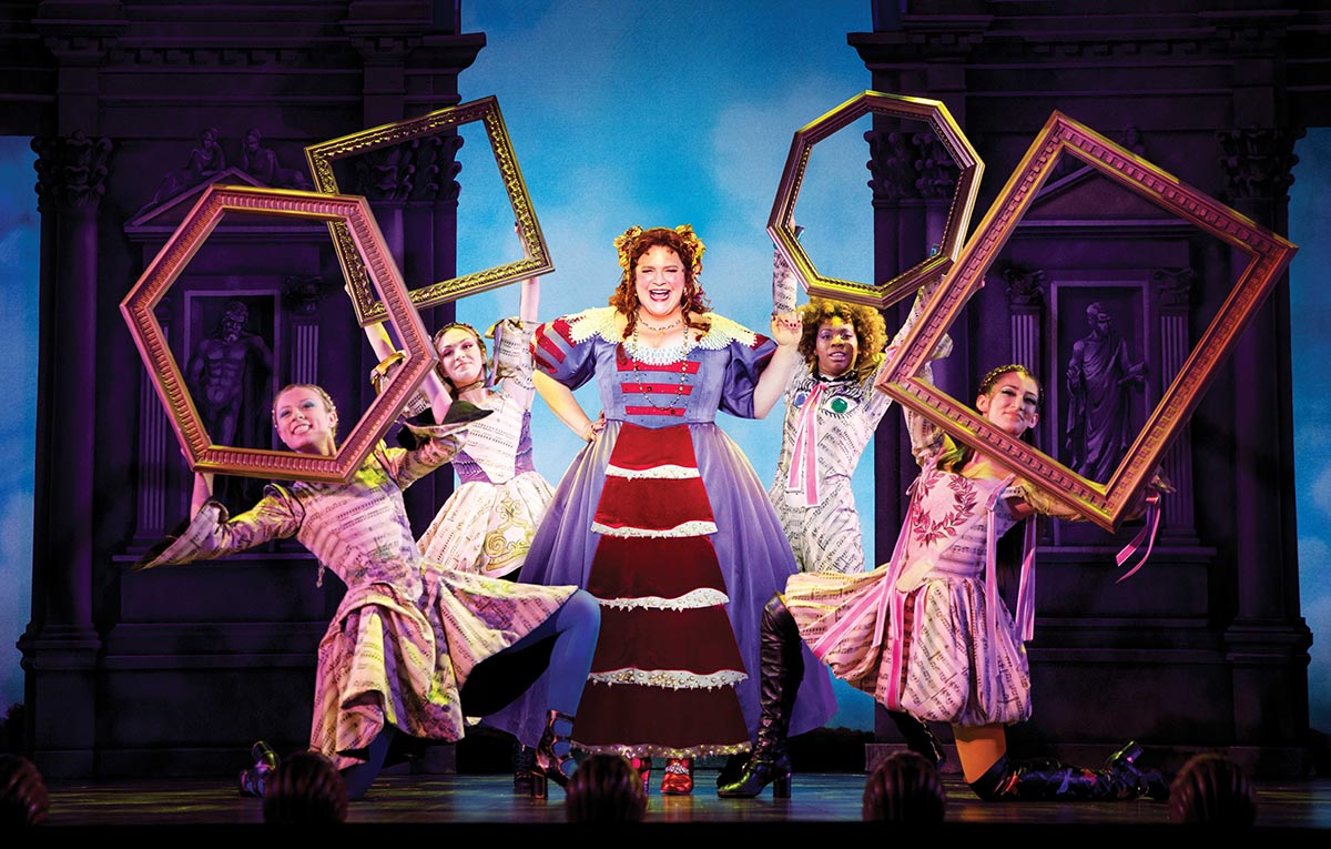 Amber Ardolino (right) and the cast of  Head Over Heels
