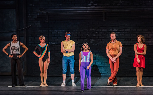 Jolina Javier and the cast of The Muny's production of  A Chorus Line
