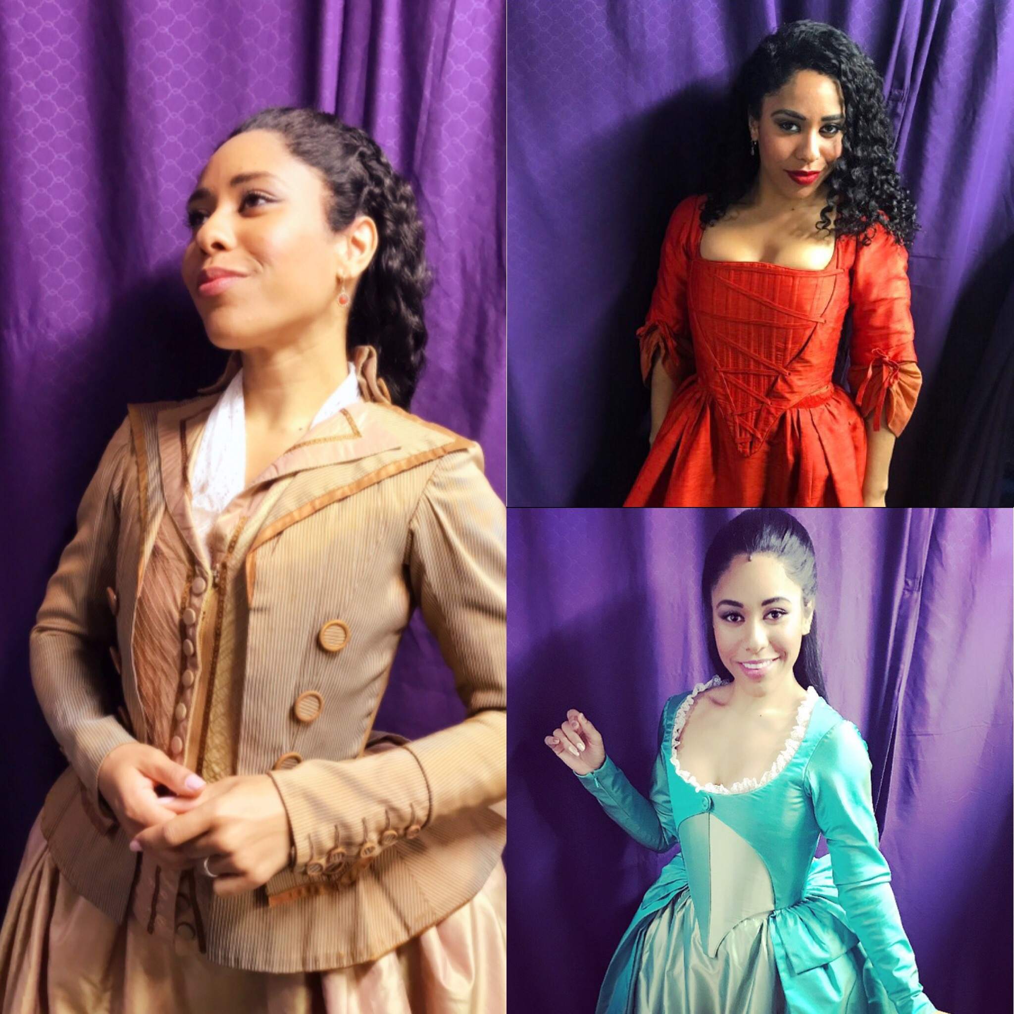 Erin Clemons as Peggy/Maria, Eliza, and Angelica in  Hamilton