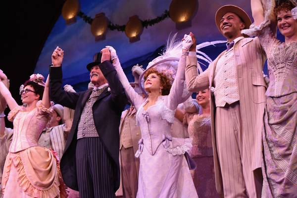 Christian Dante White (right) and the cast of  Hello, Dolly!