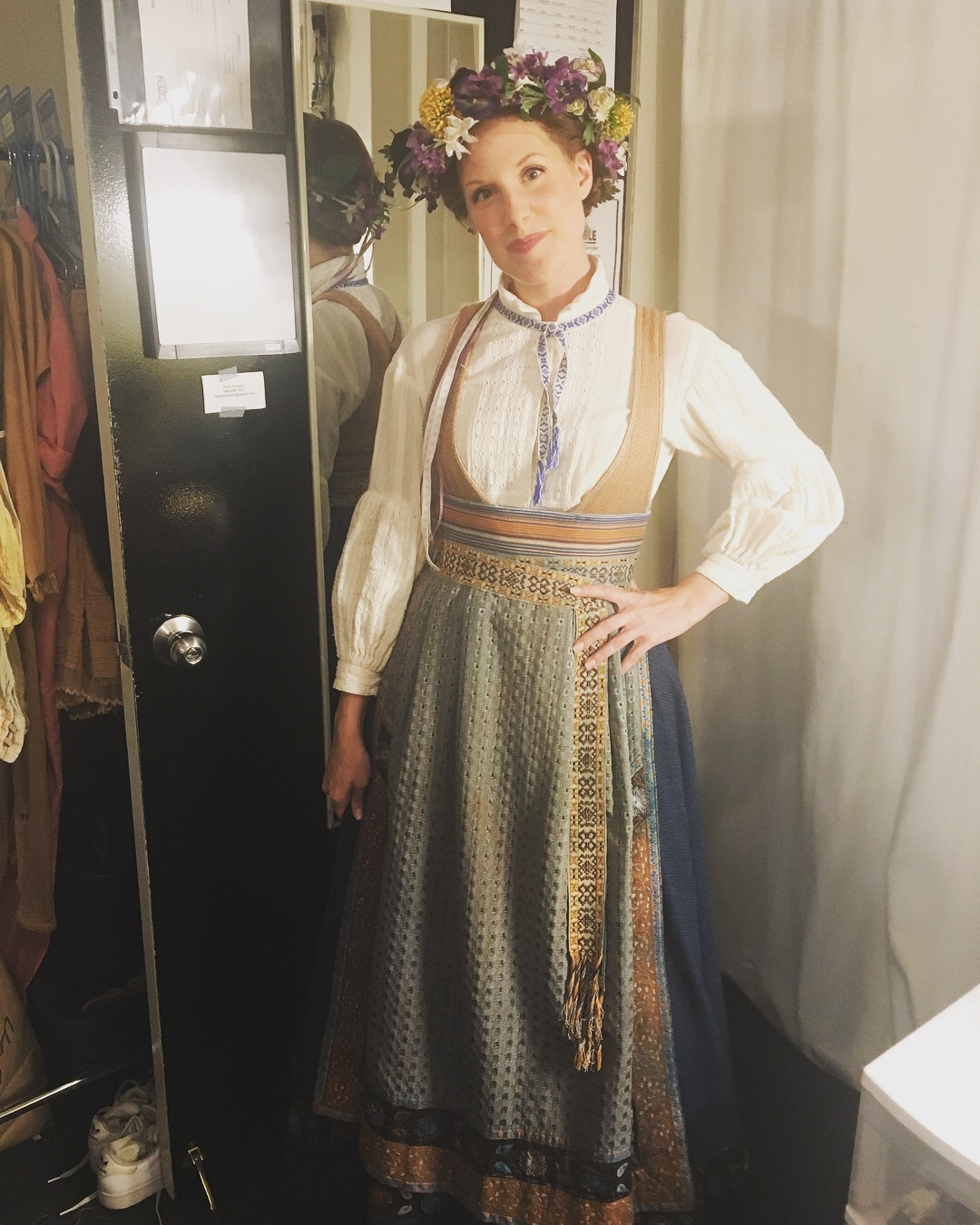 Kate Bailey backstage at  Frozen