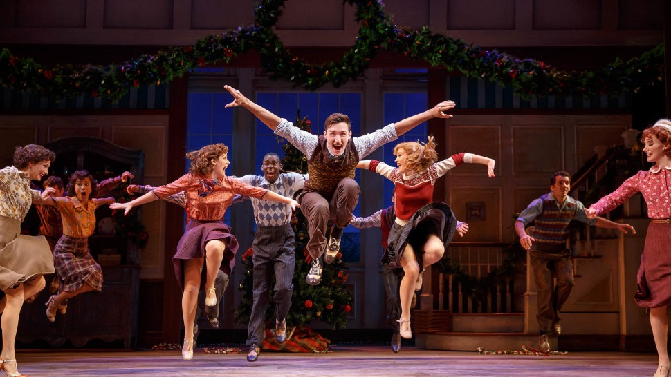 Amy Van Norstrand (third from left) in  Holiday Inn  on Broadway