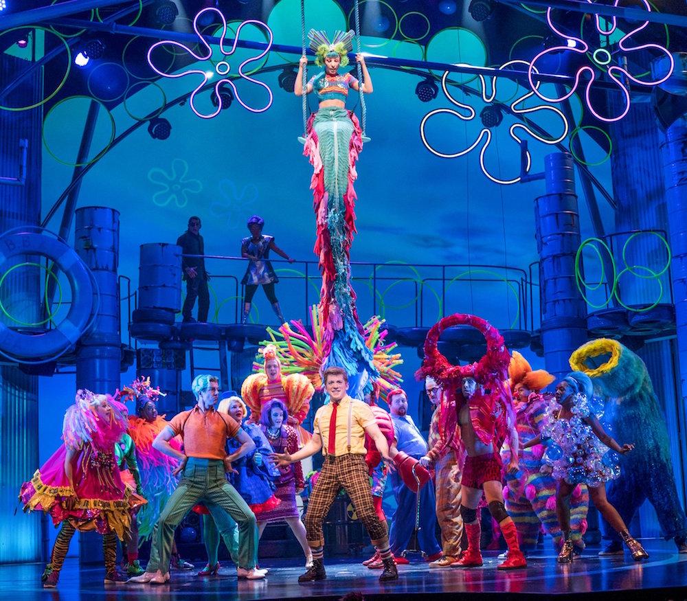 The cast of  SpongeBob SquarePants  on Broadway