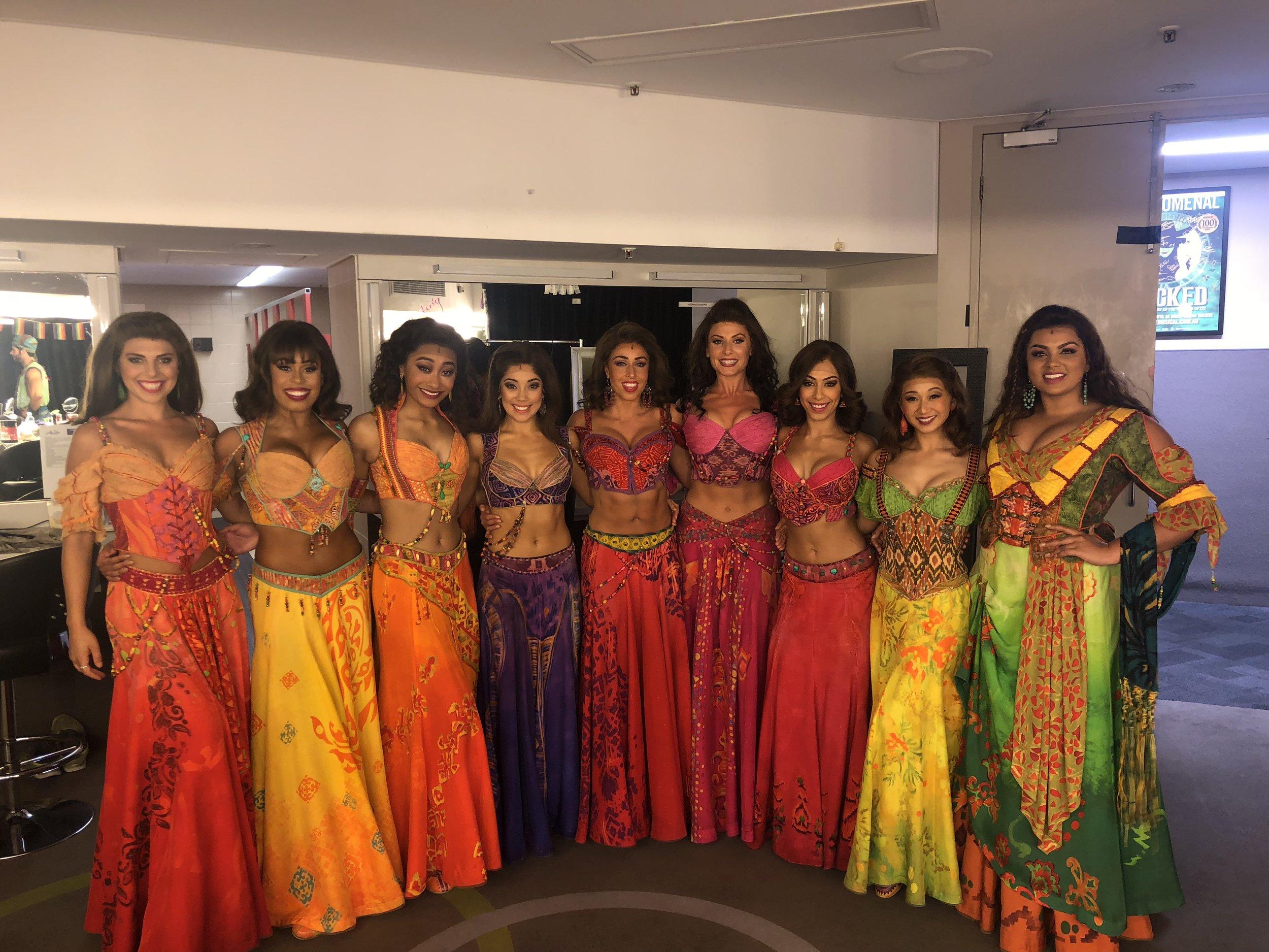 Heather Makalani and the Australian company of  Aladdin