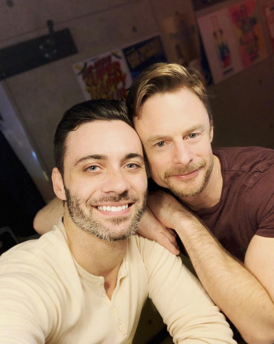 Dustin Layton (right, with choreographer Christopher Wheeldon)