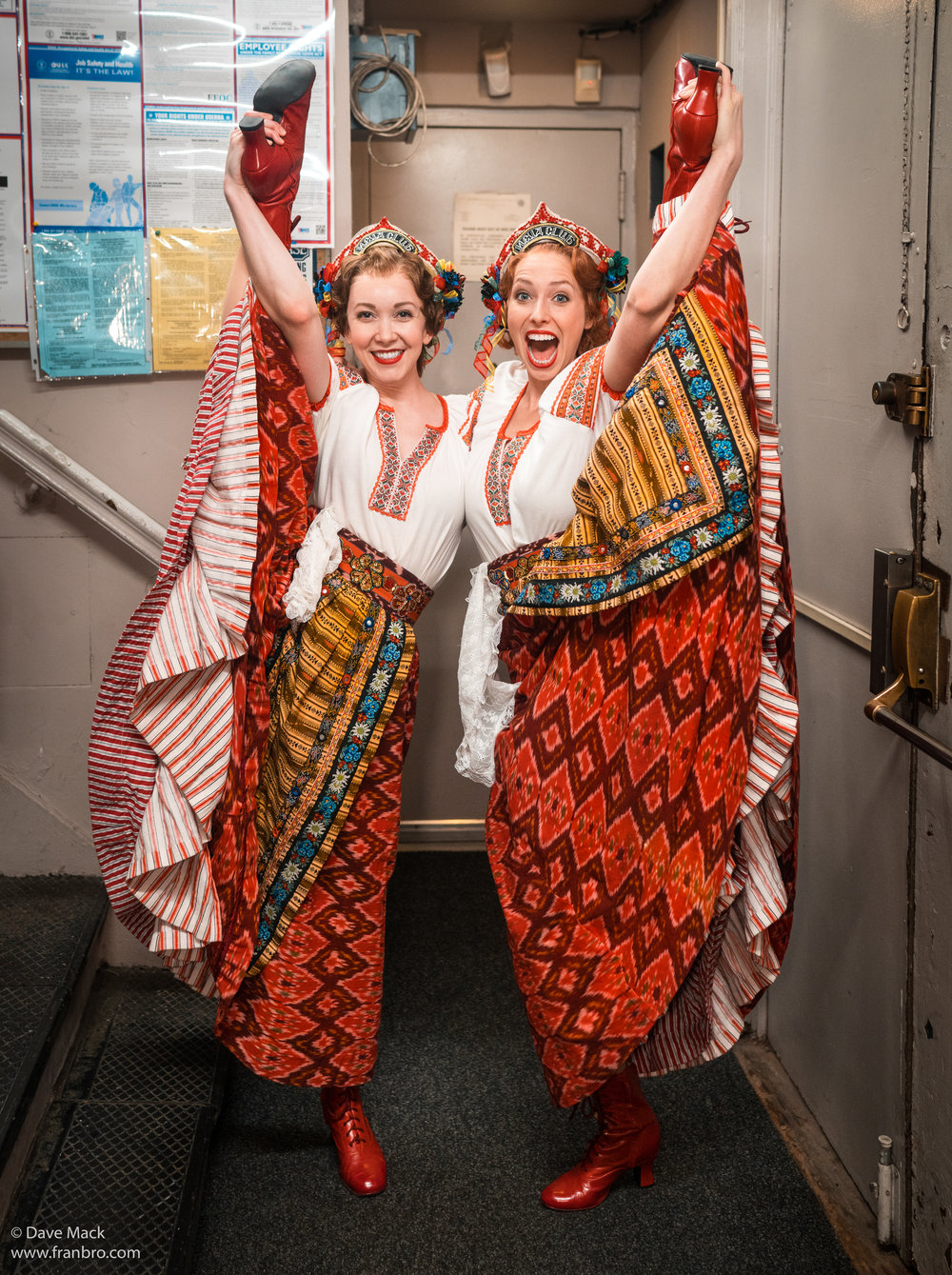 Molly Rushing in  Anastasia  (left, with Sissy Bell. Photo by DavyMackNYC)
