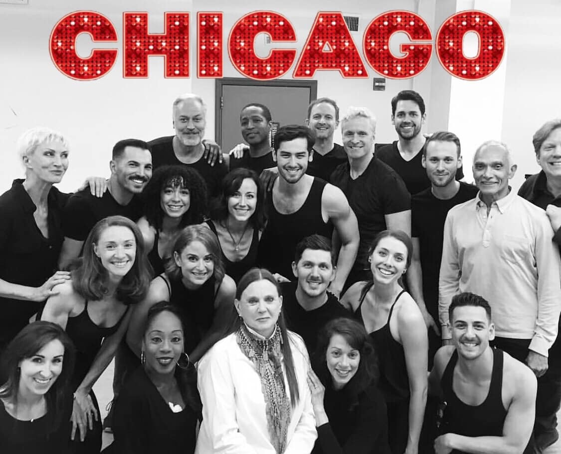 Colt Adam Weiss with Ann Reinking, Gary Chryst and the cast of Broadway's  Chicago