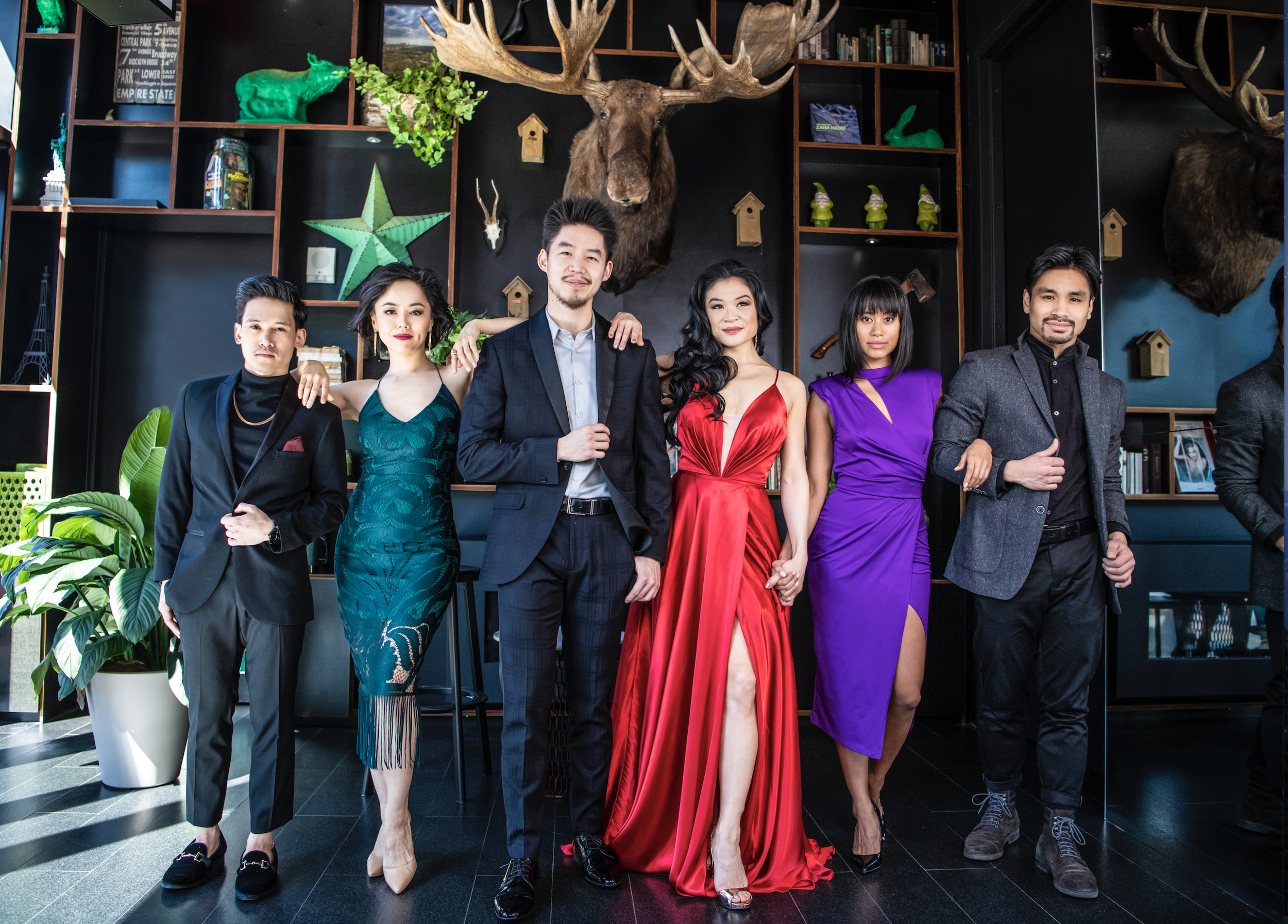 Nico DeJesus, Minami Yusuf, Eddy Lee, Kristen Faith Oei, Karla Puno Garcia and Angelo Soriano (Photo by Billy Bustamante for The Ensemblist)
