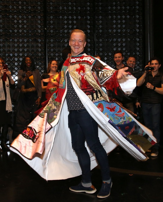 Ryan Worsing receiving the Legacy Robe for  The Cher Show  (Photo by Walter McBride)