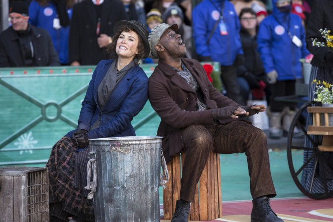 Christopher Faison (right) and Laura Benanti in  My Fair Lady  (Photo by Eric Liebowitz/NBC)
