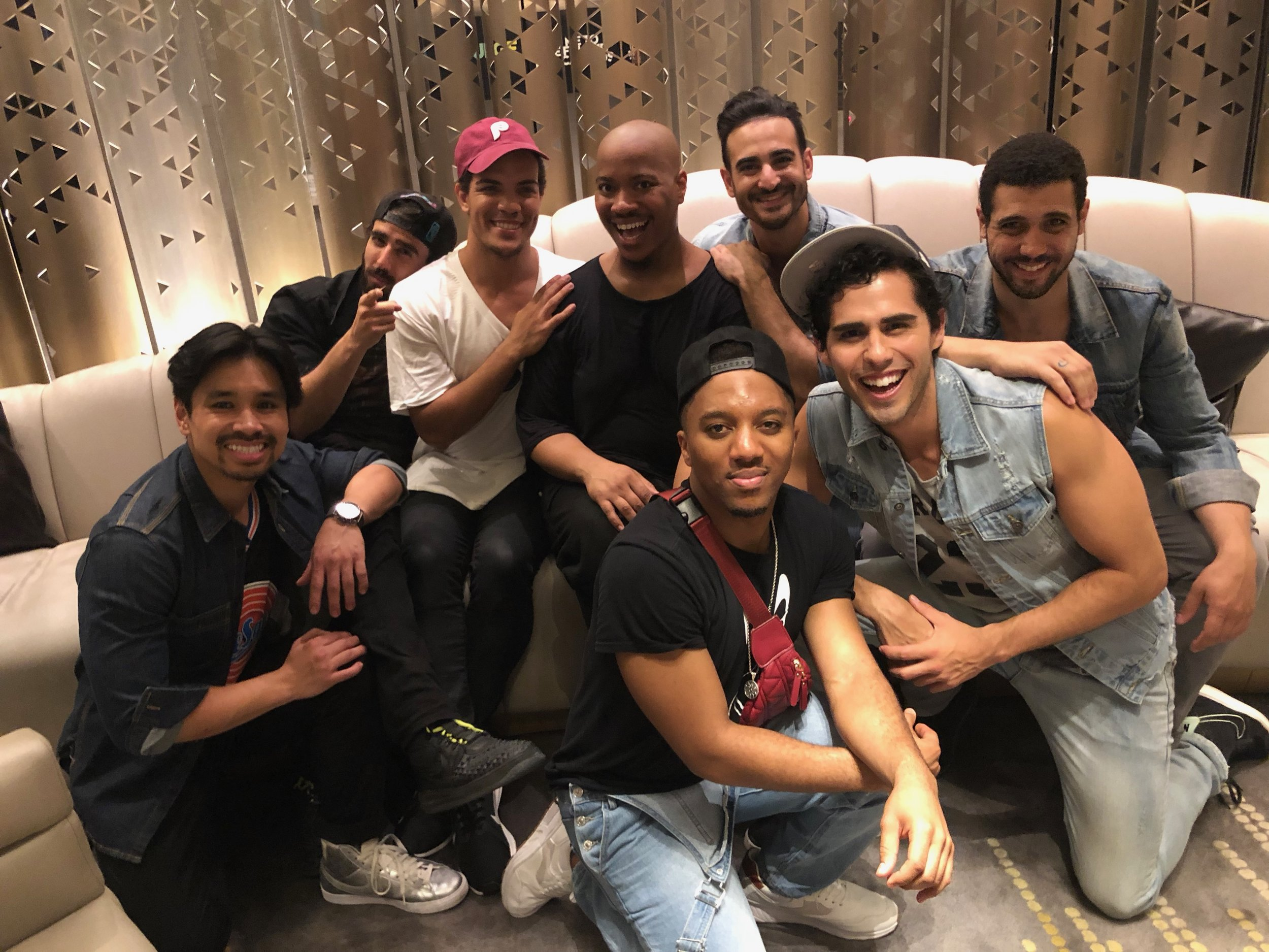 The cast of  Aladdin  at Broadway at the W