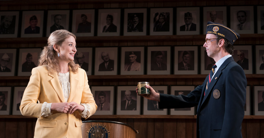 Mike Iveson (right, with Heidi Schreck) in  What The Constitution Means to Me