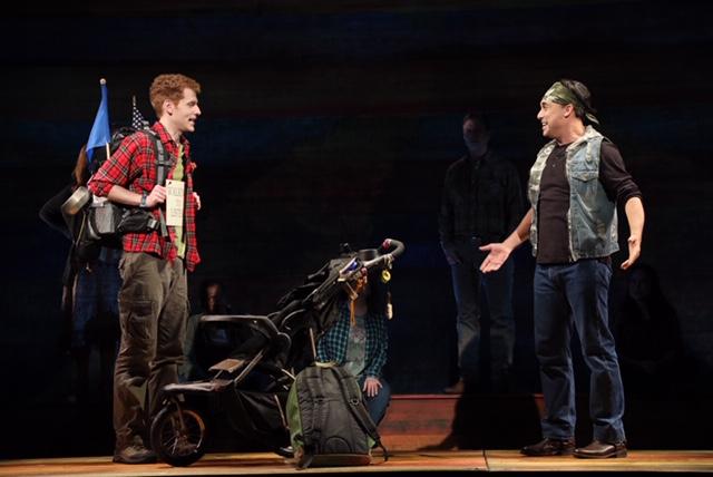 Ryan Duncan (right) with Max Chernin in  Passing Through  (Photo by Diane Sobolewski)