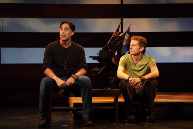 Ryan Duncan (left) with Max Chernin in  Passing Through  (Photo by Diane Sobolewski)