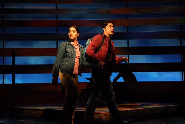 Ryan Duncan (right) with Linedy Genao in  Passing Through  (Photo by Diane Sobolewski)
