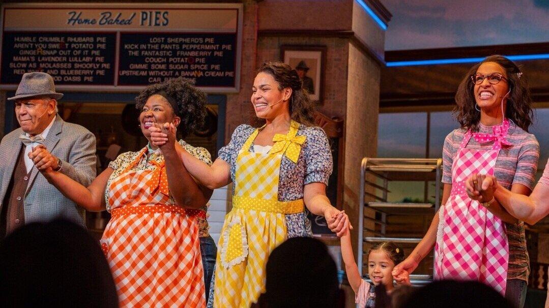 Natasha Yvette Williams, Jordin Sparks and Jessie Hooker-Bailey in  Waitress  (Photo by Monroe George)