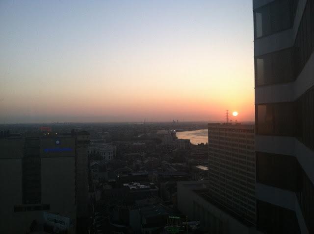 Sunrise over the Mississippi River!
