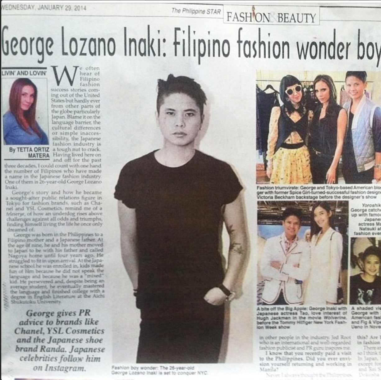 Featured by Phil Star in January, 2014: http://www.philstar.com/fashion-and-beauty/2014/01/29/1284004/george-lozano-inaki-filipino-fashion-wonder-boy-tokyo