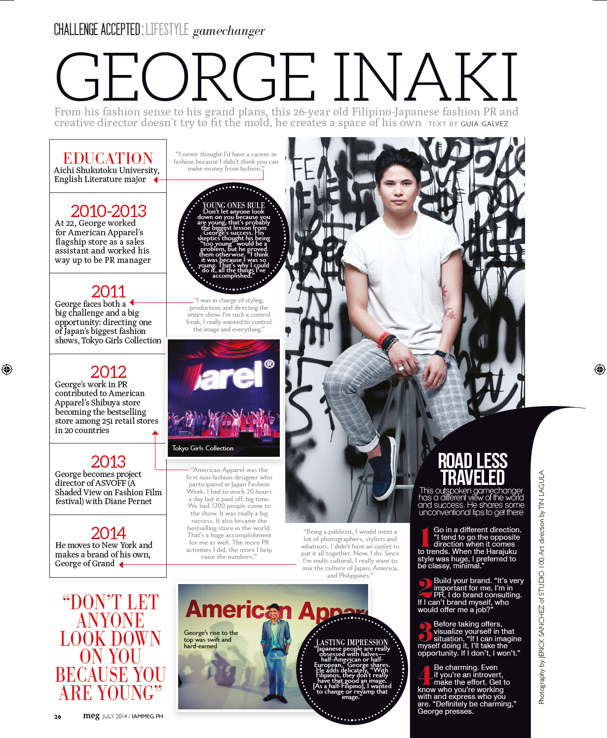 Featured by Meg Magazine, Philippines, July 2014