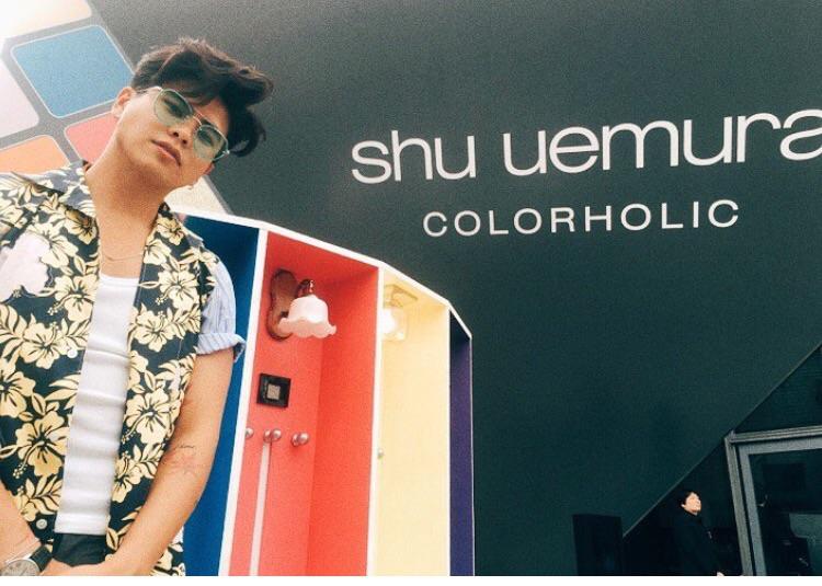 shu uemura color holicローンチイベントの時の一枚