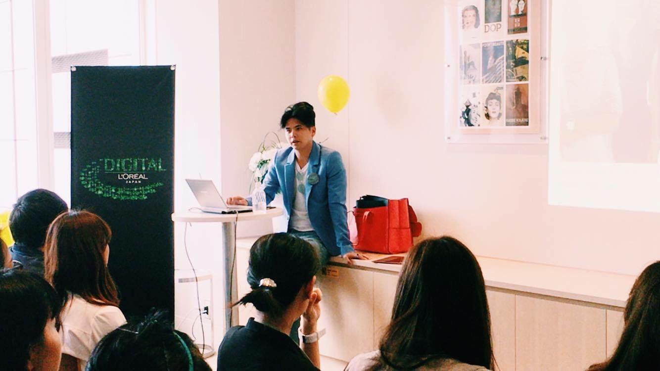 ロレアル社内向けイベントにゲストスピーカーとしてトークショーをしましたー。