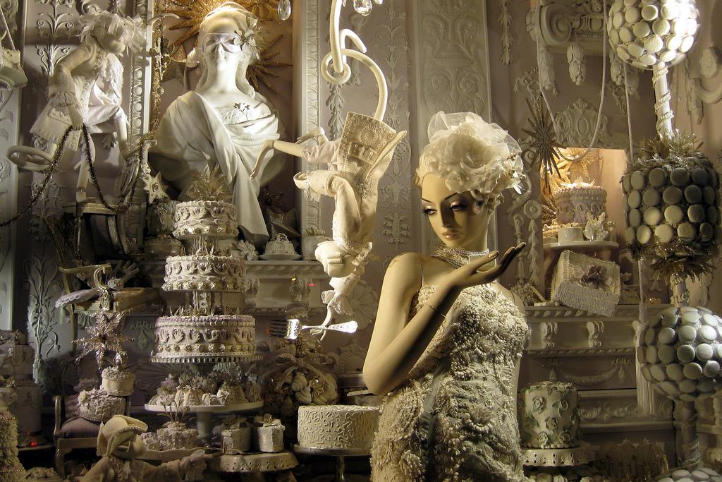 2008年のホリデーWindow。アーティスティックなショーウィンドウを飾ることで有名。
