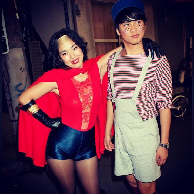 8年来の友人、伊藤梨惠子。彼女がアルバイトを誘ってくれたきっかけでアメアパに入った。2011年ハロウィンでの写真