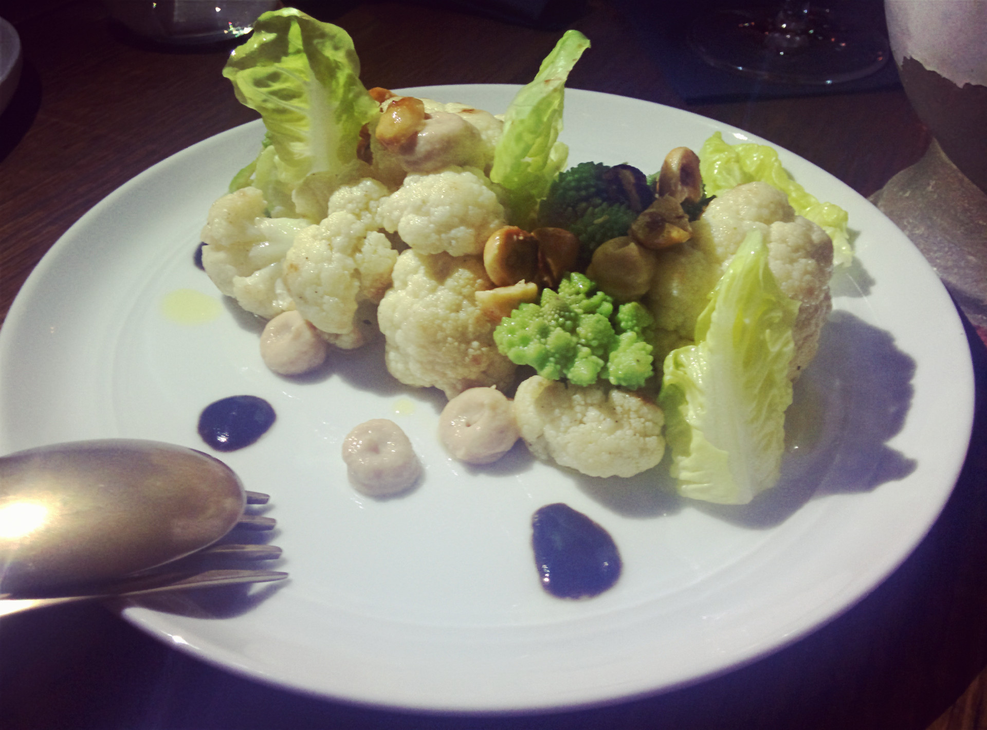 Cauliflower and hazelnut salad