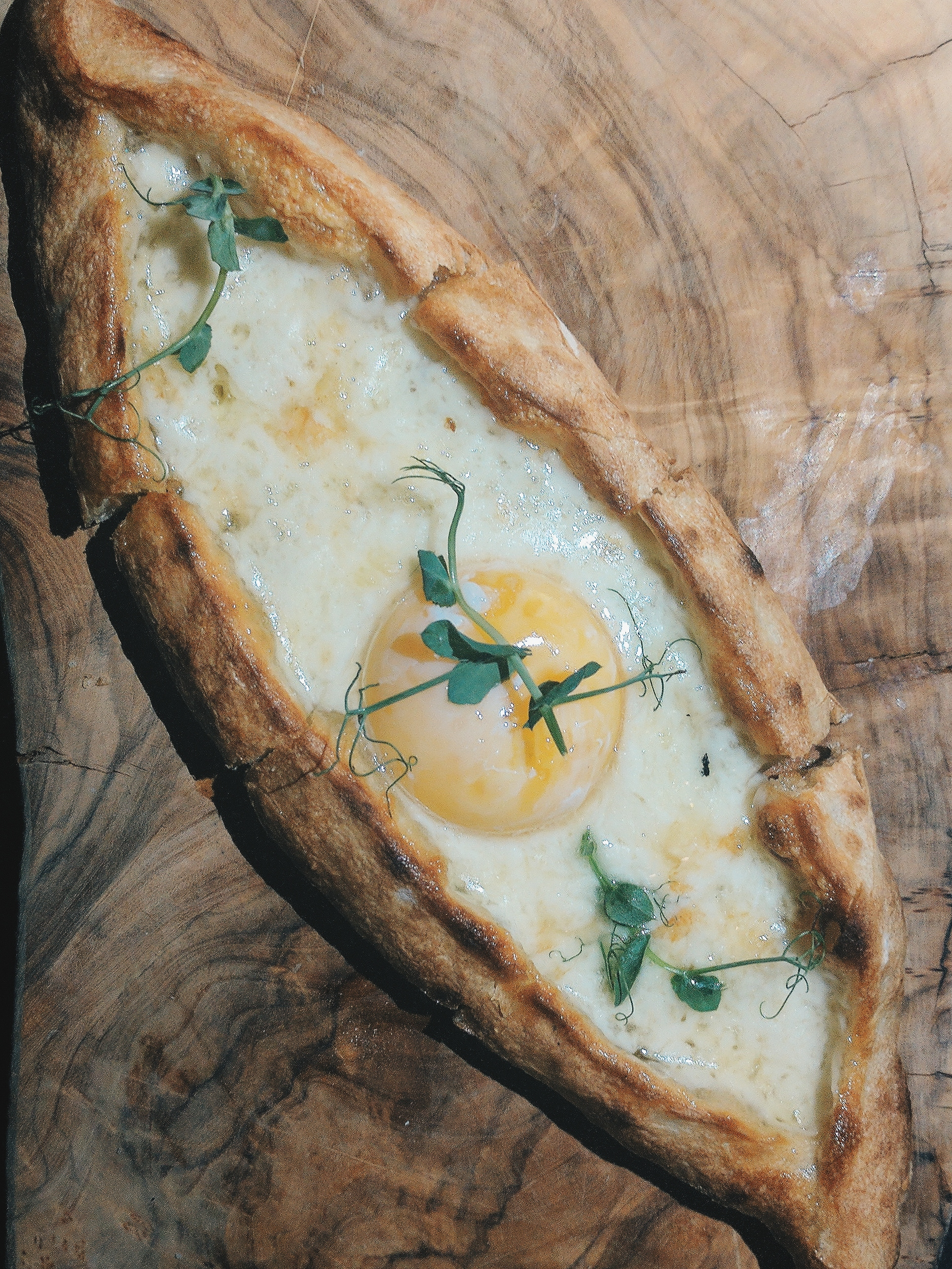 Two Cheese Pide - with slow cooked egg