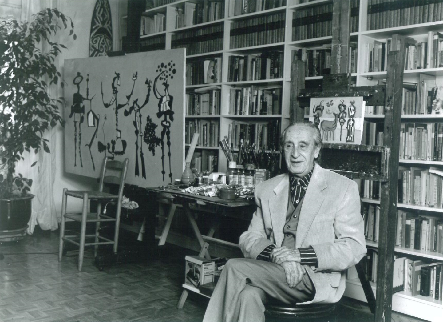 Granell in his studio in Madrid, Spain