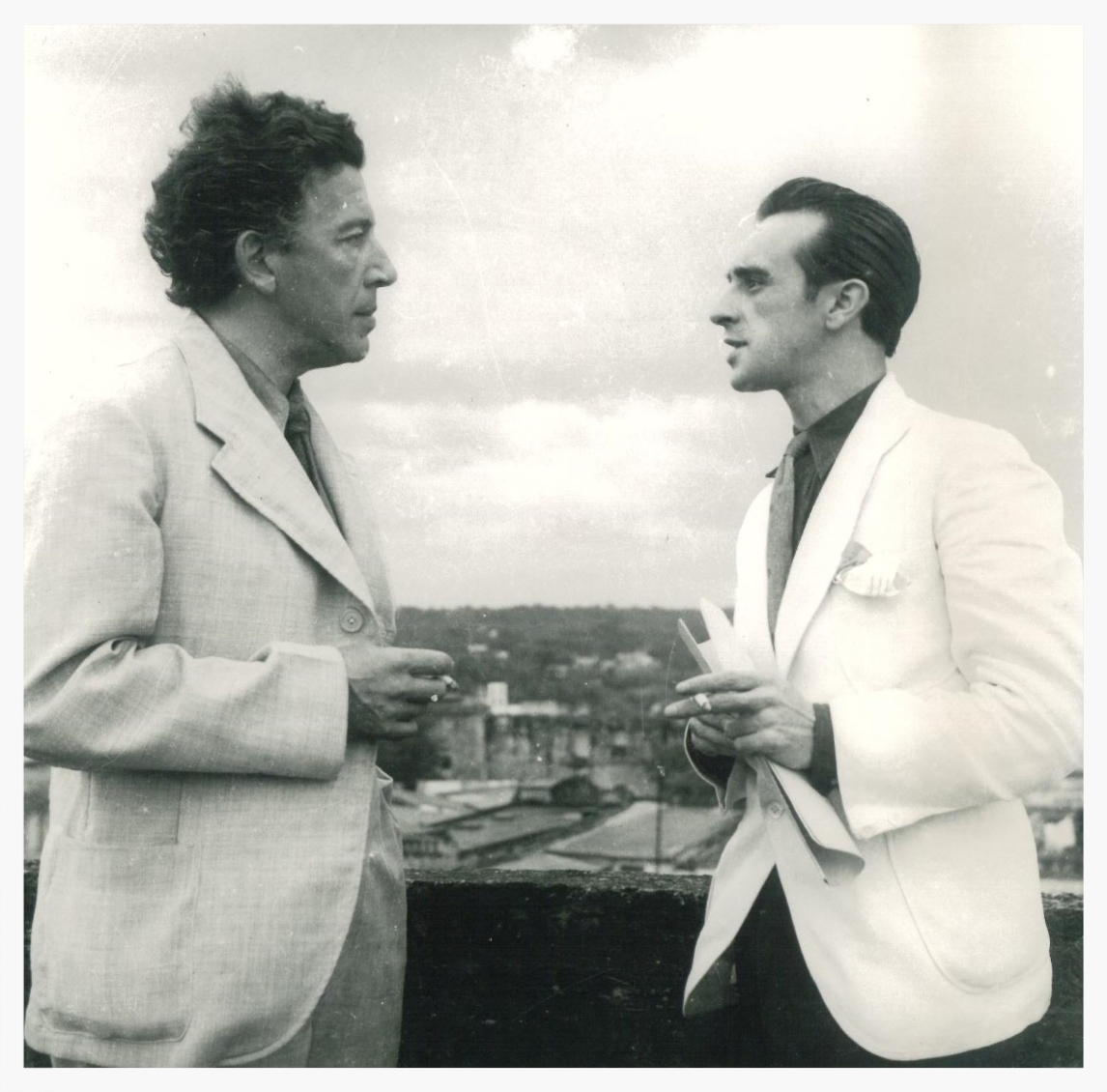 André Breton and Eugenio Granell 1941