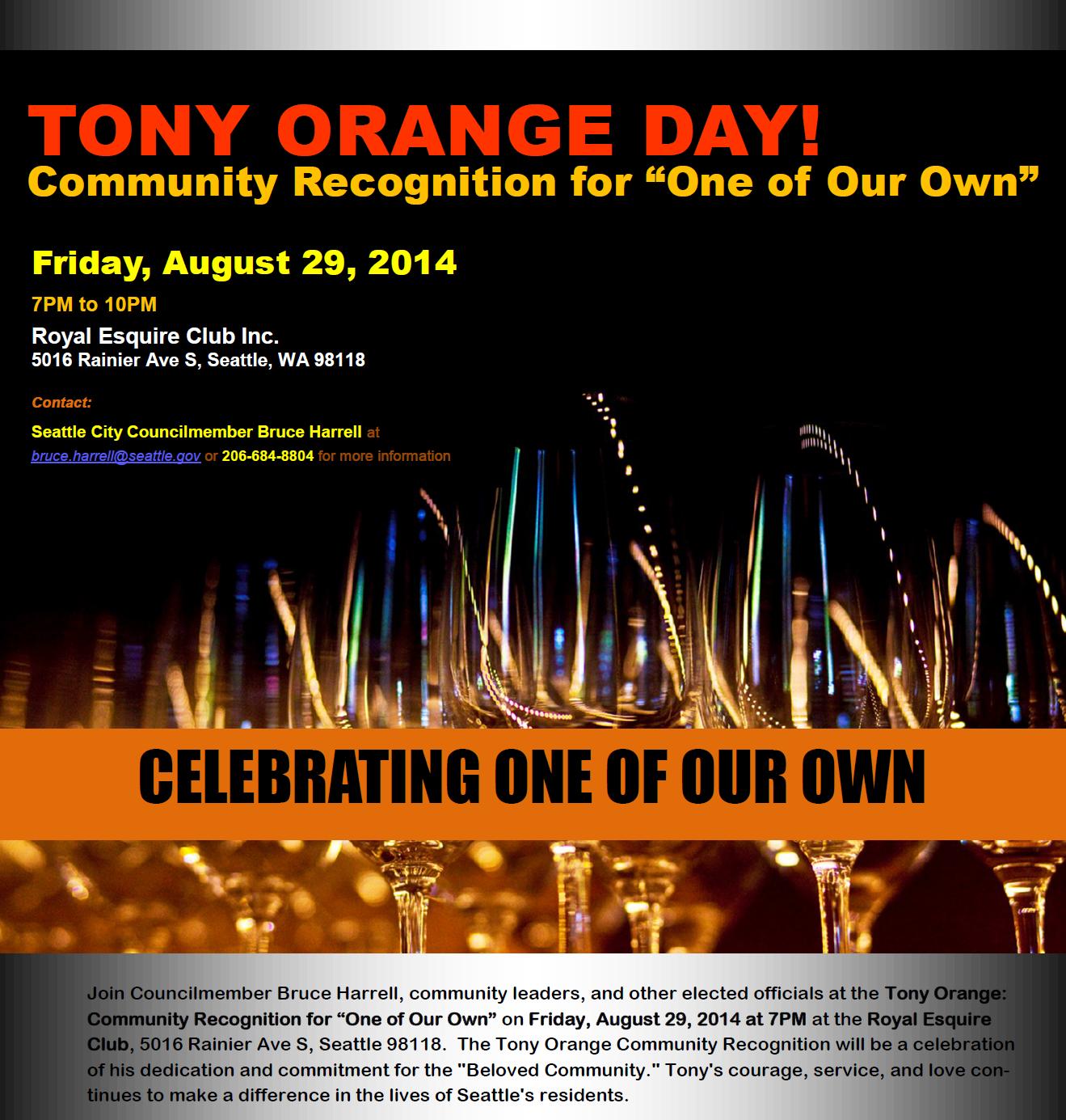 Tony Orange Day!